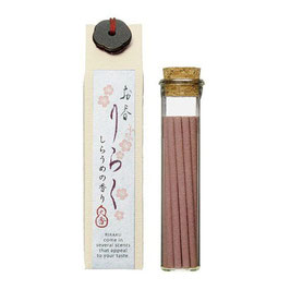 *RIRAKU STICK INCENSE 15P: WHITE PLUM BLOOSOM