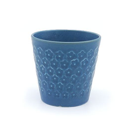 *CUP: FLOWER STAMP BLUE