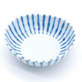 *SIDE BOWL: THICK BLUE STRIPES