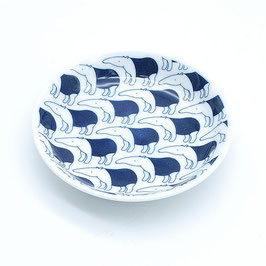 *KIDS SMALL  ROUND PLATE: BLACK BAKU