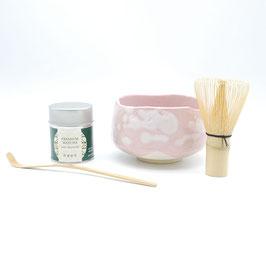 *TEA CEREMONY SET: PINK SHINO TEA BOWL