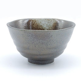 *RICE BOWL : BLACK TENMOKU w WHITE