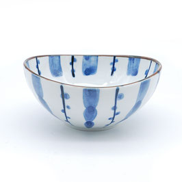 *SIDE OVAL BOWL: STRIPE