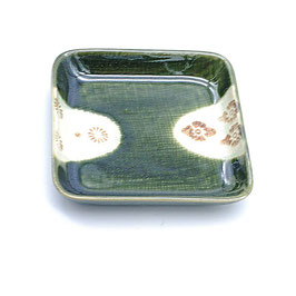 *SMALL SQUARE PLATE: ORIBE KOMON