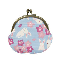 GAMAGUCHI COIN PURSE: RABITT BLUE