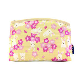 COTTON POUCH: RABITT YELLOW