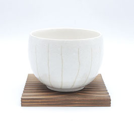 *TEA CUP: YUTTARI KOHIKI WHITE STRIPE