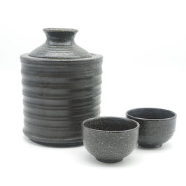 * SAKEWARE WARMER SET: TENSHO BLACK