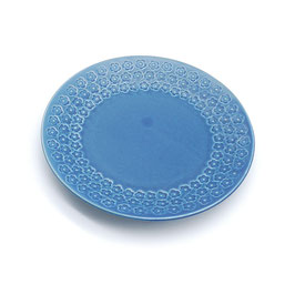 *SIDE PLATES: FLOWER STAMP BLUE