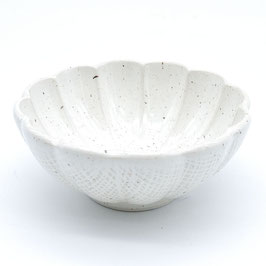 *SIDE BOWL:  WHITE FLOWER S
