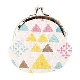 GAMAGUCHI COIN PURSE: TRIANGLES