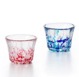 *GLASS SAKE CUP PAIR: SPRING & SUMMER