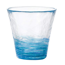 *HANDMADE GLASS CUP: DAYFLOWER
