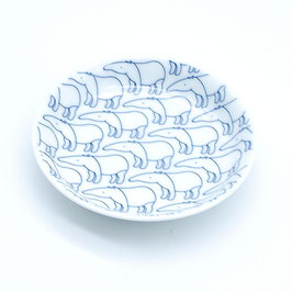 *KIDS SMALL ROUND PLATE: WHITE BAKU