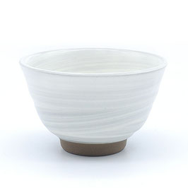 *KARATSU RICE BOWL: WHITE WHIRPOOL