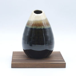 *VASE: BROWN GRADATION VASE & COASTER