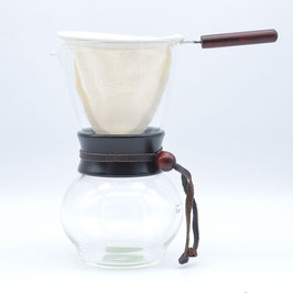 *WOOD NECK NEL DRIP POT w Extra Filter 480ml