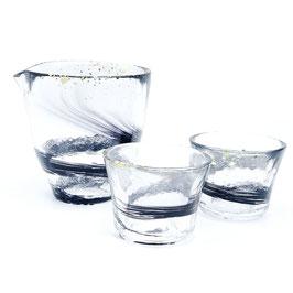 *GLASS SAKEWARE: NIGHT BREEZE SAKE SET