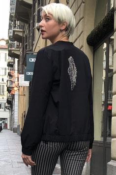 Giacchino Nero con Ala in Strass