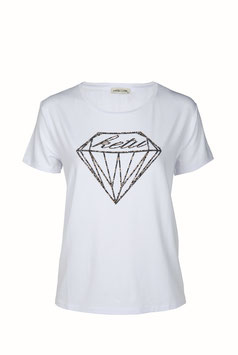 T-shirt KT089 Ecrù con diamante
