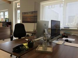 Schutzschild für Schreibtisch 138 x 72 cm