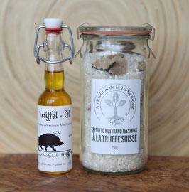 Trüffel-Risotto oder Polenta mit Trüffel-Öl