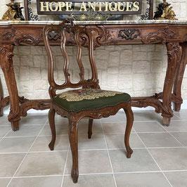 フレンチチェア ルイ15世様式 透かし彫り