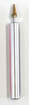■ニス塗りステック■■革のコバ塗り用■小丸・カーブ・穴(シルバー)