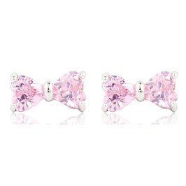 VIRGINIA - Schleifen Ohrstecker Zikronia Rosa