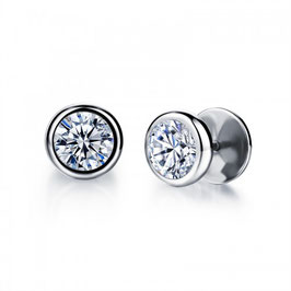 ARVID - Ohrstecker / Fake-Plugs Silber