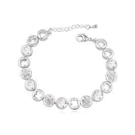 RETA - Armband mit Kristallen Weiss