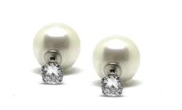 ***AVA - Double Dots mit Perlen und Zirkonia