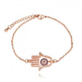 ESMERALDA - Hand der Fatima Armband VERGOLDET