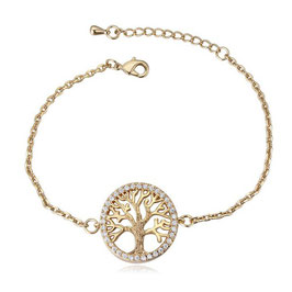 Lebensbaum / Tree of Life - Armband VERGOLDET