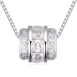 ***TUVA – Halskette mit Zirkonia-Anhänger WEISS