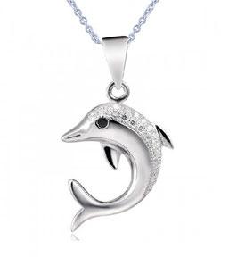 LOANA - Delfin Anhänger Halskette