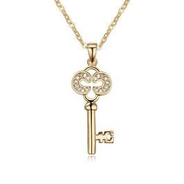 TESSA - Schlüssel Anhänger Halskette VERGOLDET