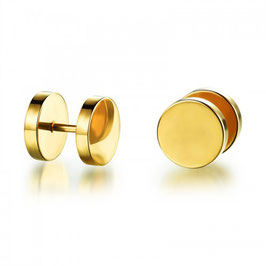 ALBIN - Ohrstecker / Fake-Plugs Gold