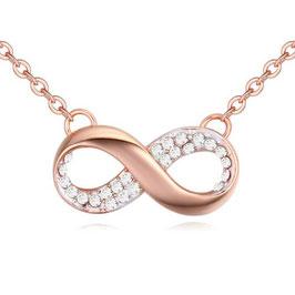 ***SCARLETTE - Infinity Halskette Crystal