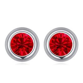 LISA - Kristallohrstecker Rot