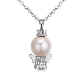 ***LUCY - Engel Anhänger Perlen Halskette