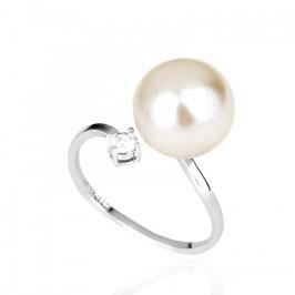 INJA - Perlenring mit Kristall
