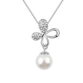 GAIA - Halskette mit Perlenanhänger