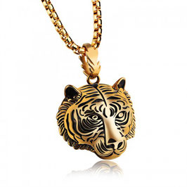 ELVIR – Tiger Head Halskette GOLD