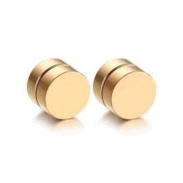 ***SAMIN - Fake Plugs magnetisch Edelstahl GOLD