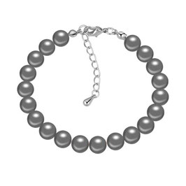 NAMI - Perlenarmband anthrazit