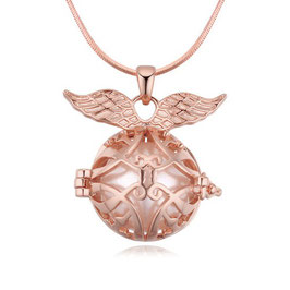 LUNA– Engelskette mit Flügeln rosévergoldet