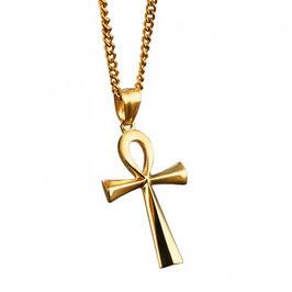 ALIBON – Kreuz Anhängerkette  GOLD