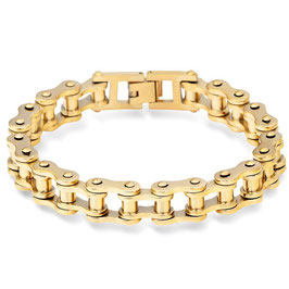 ***TIM - Motorradketten Armband Edelstahl GOLD