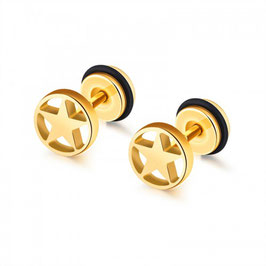 ARI – Pentagramm Fake-Plugs GOLD